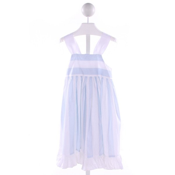 NAIN & JOE  LT BLUE  STRIPED  DRESS WITH RUFFLE