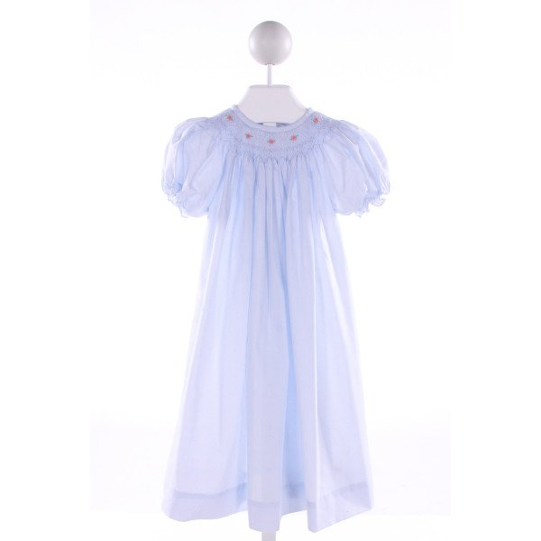 ROYAL CHILD  LT BLUE   SMOCKED DRESS WITH RUFFLE