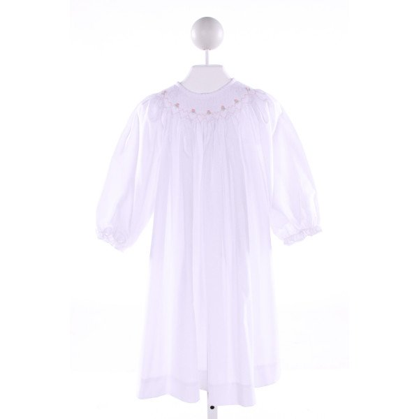 ROYAL CHILD  WHITE   SMOCKED DRESS WITH RUFFLE