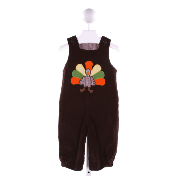 CASTLES & CROWNS  BROWN CORDUROY  EMBROIDERED LONGALL/ROMPER