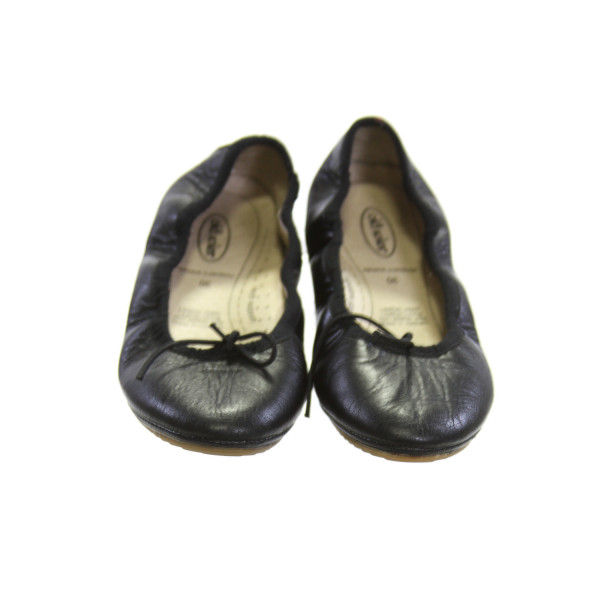 OLD SOLES BLACK LEATHER BALLET FLATS *SIZE 30 = SIZE 13,  VGU - SOME CREASING