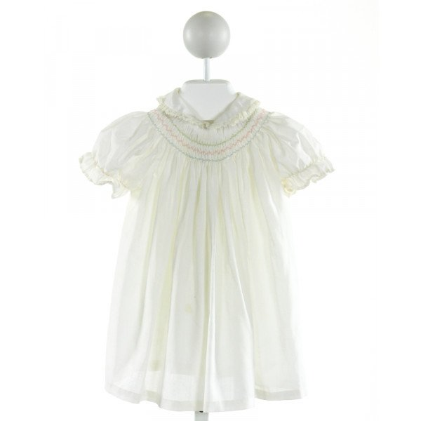 THE SMOCKERY  PALE YELLOW   SMOCKED DRESS WITH RUFFLE