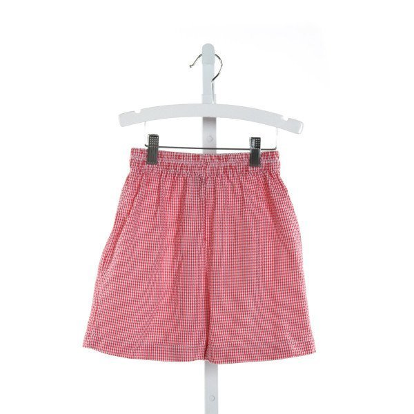 FUNTASIA TOO  RED SEERSUCKER GINGHAM  SHORTS
