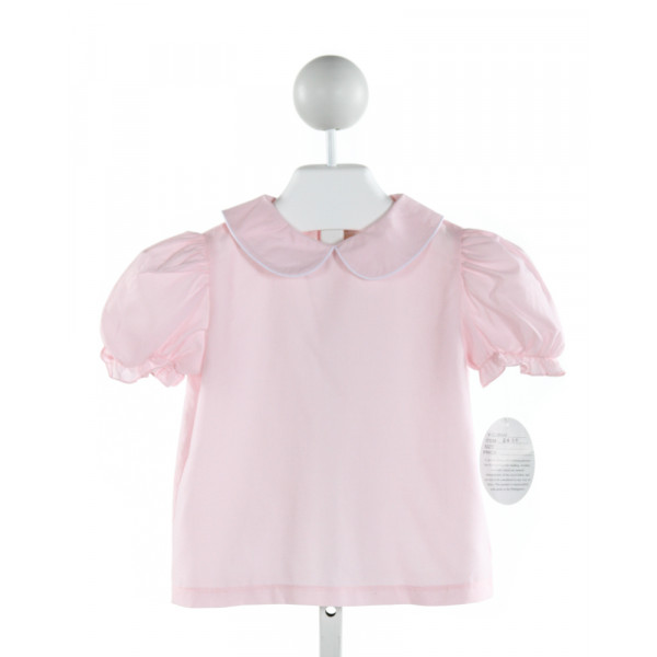ROSALINA  LT PINK    CLOTH SS SHIRT WITH RUFFLE