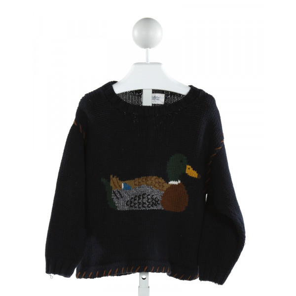AND THEN THERE WAS JAKE  NAVY   PRINTED DESIGN SWEATER