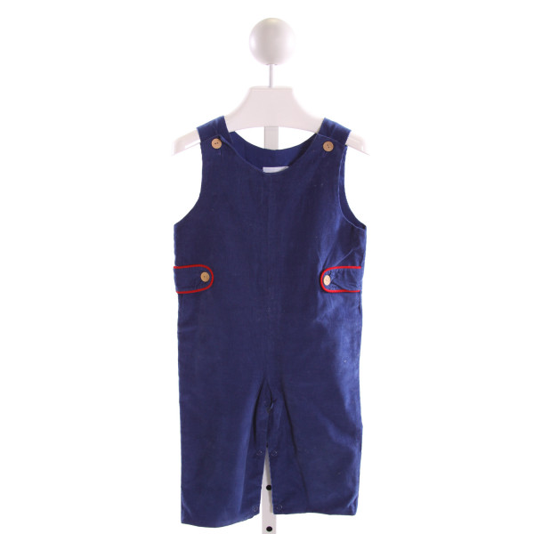 LITTLE ENGLISH  ROYAL BLUE CORDUROY   LONGALL/ROMPER