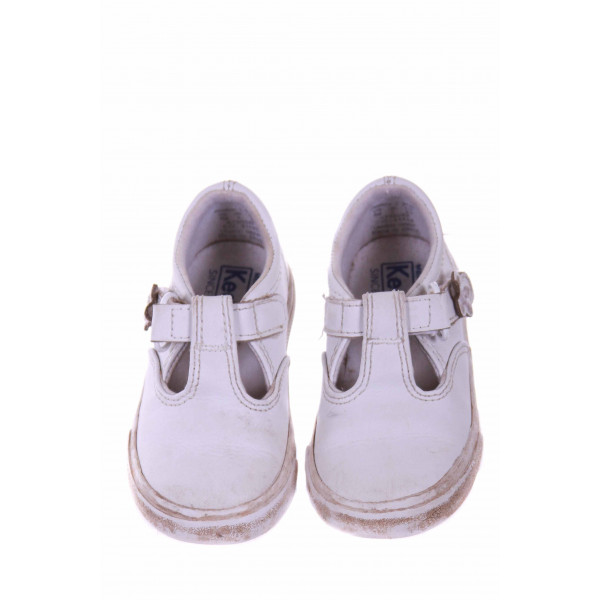 KEDS WHITE MARY JANES WITH VELCRO STRAP *SIZE 6 *GUC