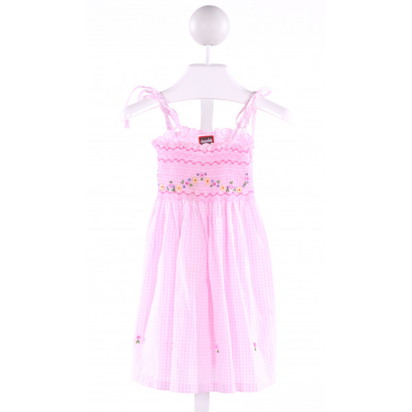 CHOCOLATE SOUP  LT PINK  GINGHAM SMOCKED DRESS