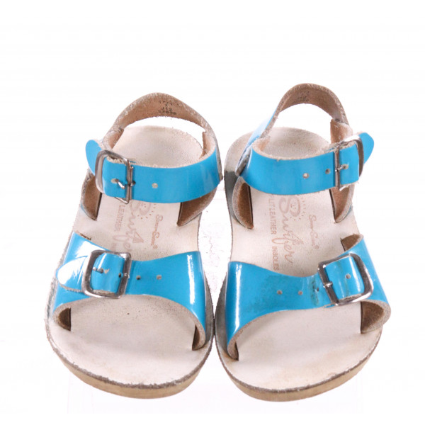 BLUE SUN SANS/ SALTWATER SANDALS *SIZE 7, GUC - SCUFFING AND DISCOLORATION