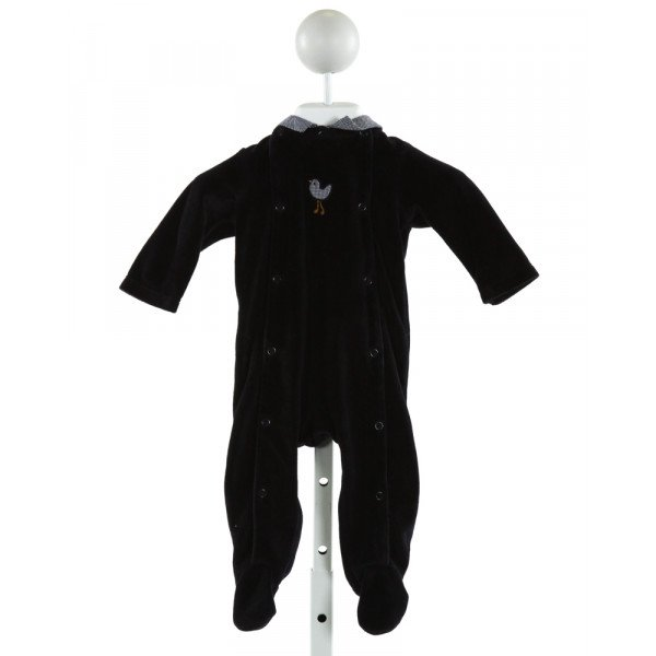 JACADI  NAVY VELVET  EMBROIDERED LAYETTE