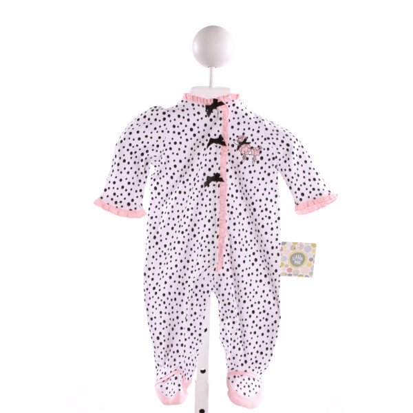LITTLE ME  MULTI-COLOR  POLKA DOT EMBROIDERED LAYETTE WITH RUFFLE