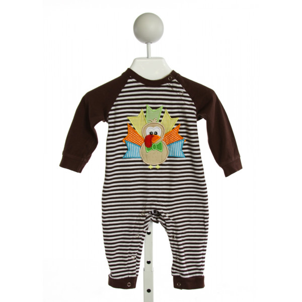 BE MINE  BROWN  STRIPED EMBROIDERED LAYETTE