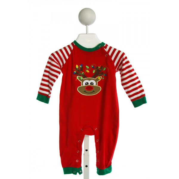 BE MINE  RED  STRIPED EMBROIDERED LAYETTE