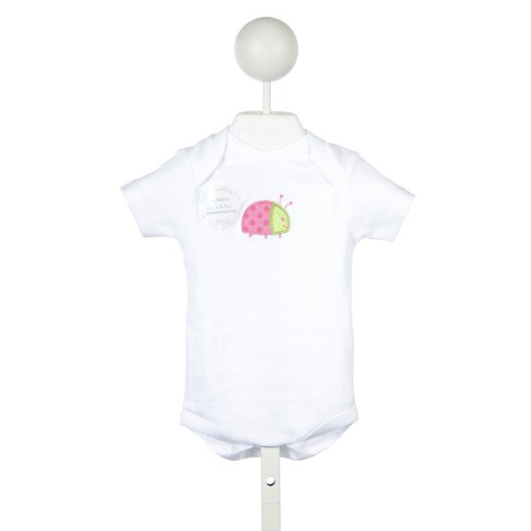 3 MARTHAS WHITE ONESIE WITH LADYBUG *SIZE SMALL=3-6M