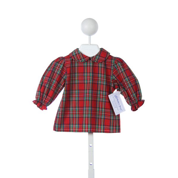 BAILEY BOYS RED PLAID TOP BUTTONS UP THE BACK