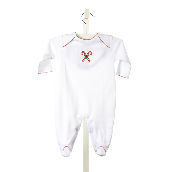 PATY KNIT FOOTIE LAYETTES WITH CHRISTMAS TREE AND RED TRIM