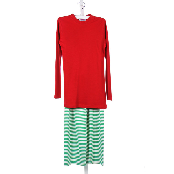 GABIANO RED AND GREEN KNIT 2 PIECE PANT SET