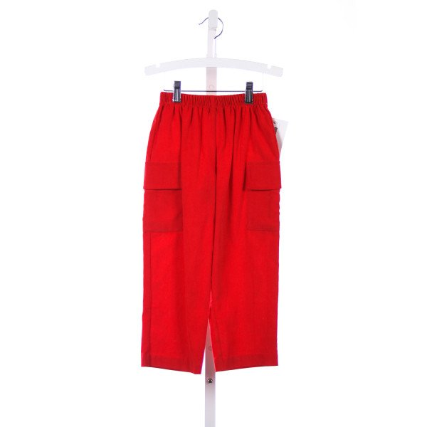 MONDAYS CHILDREN RED CORD CARGO PANTS
