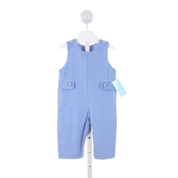 MONDAYS CHILD BLUE CORD LONGALL WITH BLUE GINGHAM TRIM