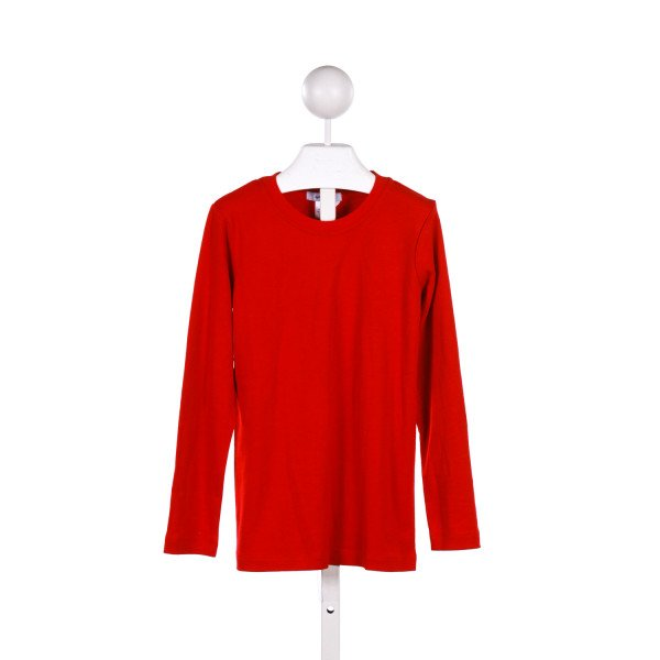 GANIANO RED KNIT LONG-SLEEVE TOP