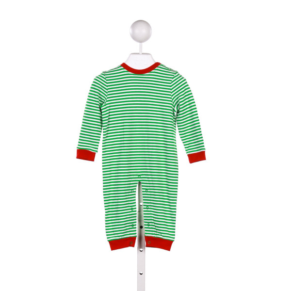 GABIANO GREEN AND WHITE STRIPEDD KNIT ROMPER