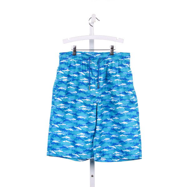 SOUTHERN TIDE BLUE FISH SHARK PRINT SWIM SHORTS *SIZE XL RUNS LIKE A SIZE 16