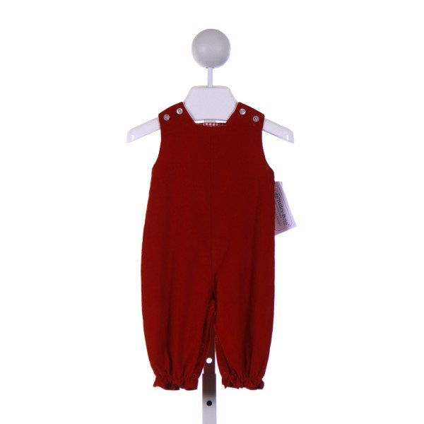 BAILEY BOYS  RED CORDUROY   ROMPER