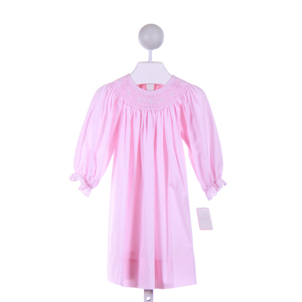 PETIT BEBE  PINK   SMOCKED CASUAL DRESS