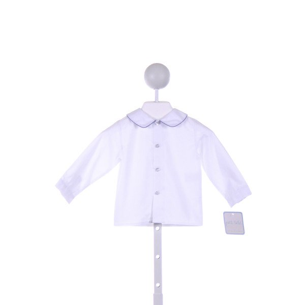 PETIT BEBE  WHITE    CLOTH LS SHIRT