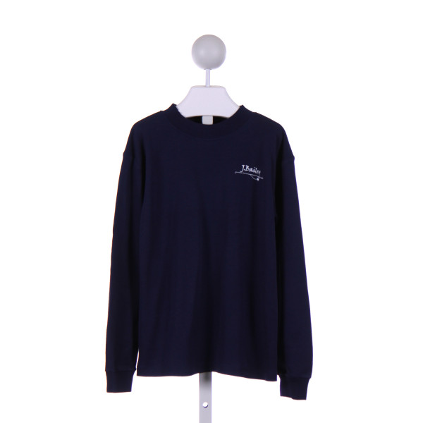 J. BAILEY  NAVY    KNIT LS SHIRT