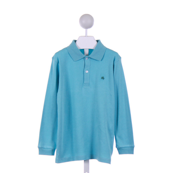 J. BAILEY  AQUA    KNIT LS SHIRT