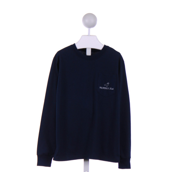 PROPERLY TIED  NAVY    KNIT LS SHIRT