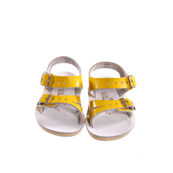 SUN SUNS/SALTWATER SHINY YELLOW SANDALS