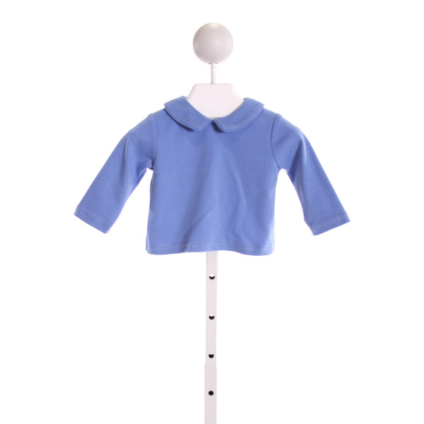 PETIT BEBE  BLUE    KNIT LS SHIRT