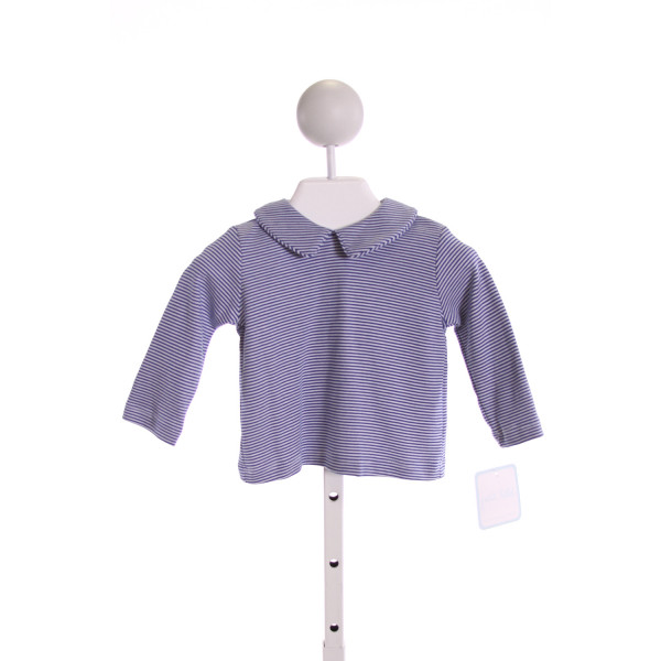 PETIT BEBE  ROYAL BLUE  STRIPED  KNIT LS SHIRT