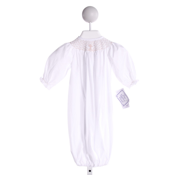 BAILEY BOYS  WHITE   SMOCKED LAYETTE WITH RUFFLE