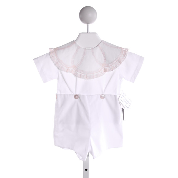 PIECES BY TAM  WHITE    JOHN JOHN/ SHORTALL WITH LACE TRIM