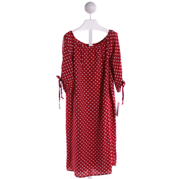 MAGGIE BREEN  RED   PRINTED DESIGN DRESS
