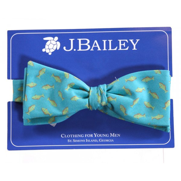 J. BAILEY  AQUA   PRINTED DESIGN ACCESSORIES - BELT/TIES