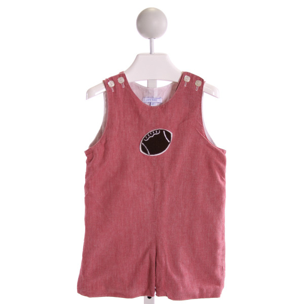 PETIT FRERE  RED   EMBROIDERED JOHN JOHN/ SHORTALL