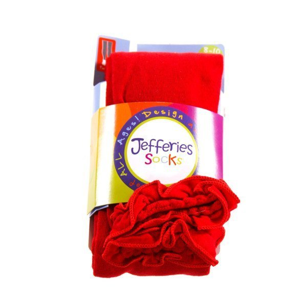JEFFERIES   RED    ACCESSORIES - SOCKS/TIGHTS WITH RUFFLE