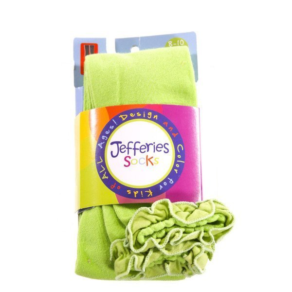 JEFFERIES   LT GREEN    ACCESSORIES - SOCKS/TIGHTS WITH RUFFLE