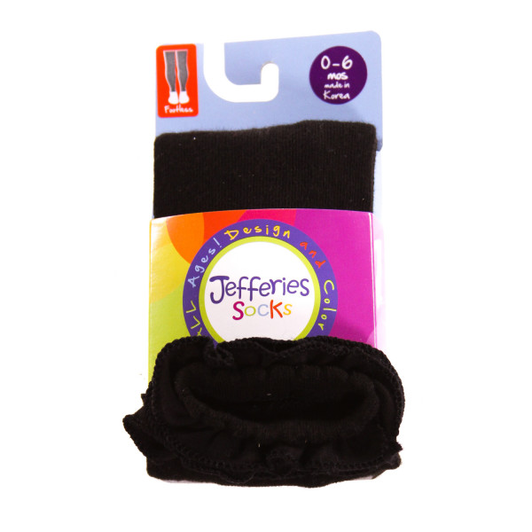 JEFFERIES   BLACK    ACCESSORIES - SOCKS/TIGHTS WITH RUFFLE