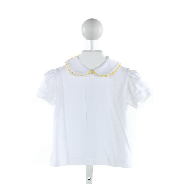 GLORIMONT  IVORY    KNIT SS SHIRT WITH RIC RAC