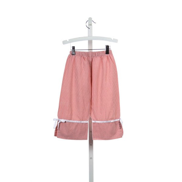 HOLLYWOOD BABY CORAL MICRO GINGHAM CHECK PANTS