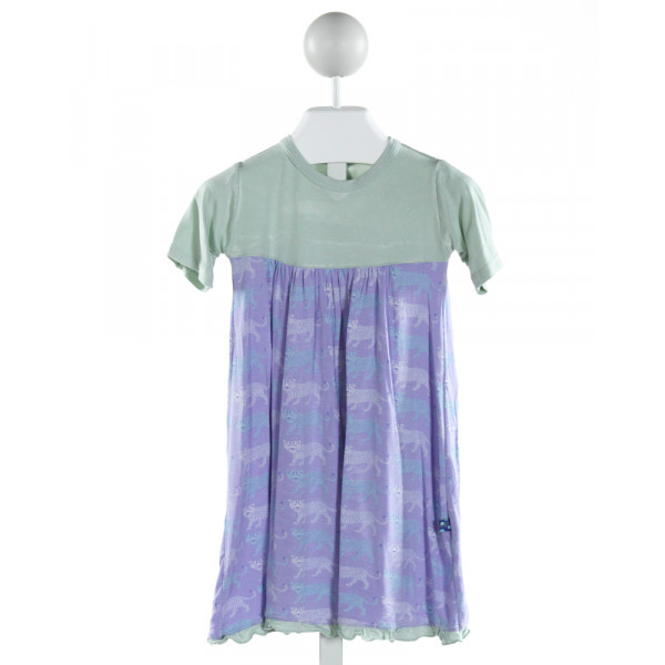 KICKEE PANTS  PURPLE   PRINTED DESIGN KNIT DRESS