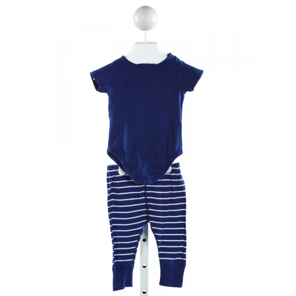 HANNA ANDERSSON  ROYAL BLUE  STRIPED  2-PIECE OUTFIT