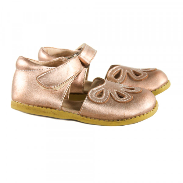 LIIVE & LUCA ROSE GOLD SHOES *SIZE TODDLER 9, VGU - VERY MINOR DISCOLORATION
