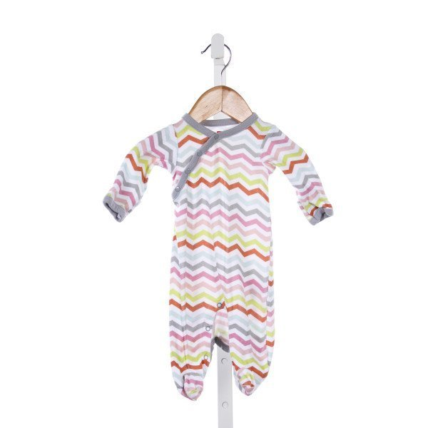 SKIP HOP MULTI-COLOR CHEVRON ROMPER *LIGHT WASH WEAR