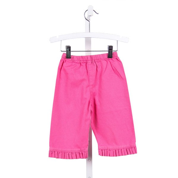 BLOOM PINK RUFFLE HEM PANTS